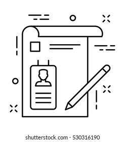 Biodata Vector Icon
