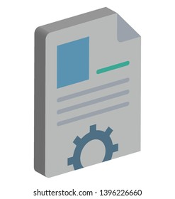 Biodata Vector Icon Isolated Vector icon which can easily modify or edit