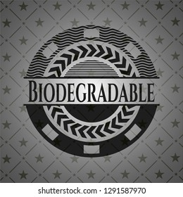 Biodegradable realistic black emblem