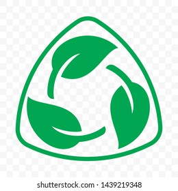 Biodegradable recyclable plastic free package icon template. Vector bio recyclable degradable label logo