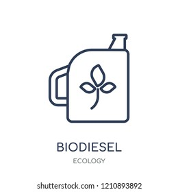 Biodiesel icon. Biodiesel linear symbol design from Ecology collection. Simple outline element vector illustration on white background.