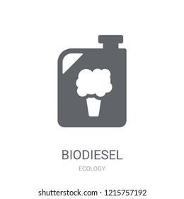 Biodiesel icon. Trendy Biodiesel logo concept on white background from Ecology collection. Suitable for use on web apps, mobile apps and print media.