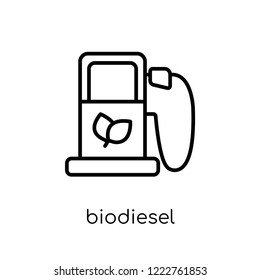 biodiesel icon. Trendy modern flat linear vector biodiesel icon on white background from thin line Ecology collection, outline vector illustration