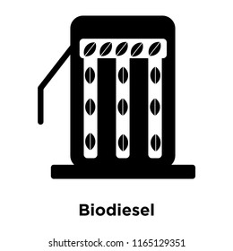 Biodiesel icon vector isolated on white background, Biodiesel transparent sign , black symbols