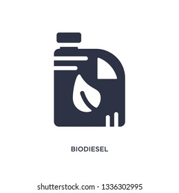 biodiesel isolated icon. Simple element illustration from ecology concept. biodiesel editable logo symbol design on white background. Can be use for web and mobile.