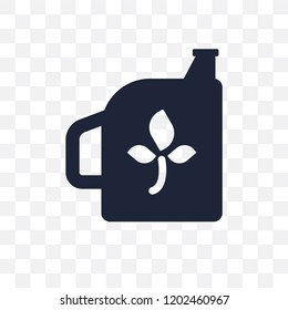 Biodiesel transparent icon. Biodiesel symbol design from Ecology collection. Simple element vector illustration on transparent background.