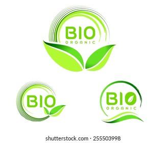 Bio/Eco Logo. Eco icon design. Green Bio icon badge vector.