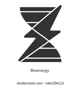Bioenergy glyph icons set. Biofuel. Organic matter for producing renewable energy. Converting biomass into electricity. Silhouette symbols. Vector isolated illustration