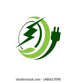 bioenergy logo design vector eco friendly renewable icon symbol illustration