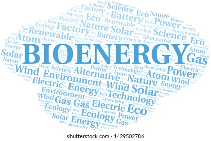 Bioenergy word cloud. Wordcloud made with text only.