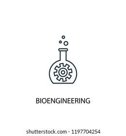 bioengineering concept line icon. Simple element illustration. bioengineering concept outline symbol design. Can be used for web and mobile UI/UX