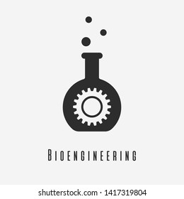 Bioengineering icon. New trendy art style Bioengineering vector illustration.