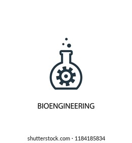 bioengineering icon. Simple element illustration. bioengineering concept symbol design. Can be used for web and mobile.