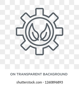 bioengineering icon. Trendy flat vector bioengineering icon on transparent background from general  collection. High quality filled bioengineering symbol use for web and mobile