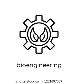bioengineering icon. Trendy modern flat linear vector bioengineering icon on white background from thin line general collection, editable outline stroke vector illustration