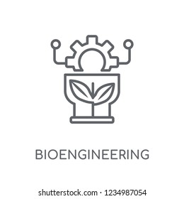 bioengineering linear icon. Modern outline bioengineering logo concept on white background from General collection. Suitable for use on web apps, mobile apps and print media.