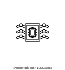 Bioengineering nanorobotics icon. Element of artificial intelligence icon for mobile concept and web apps. Thin line Bioengineering nanorobotics icon can be used for web and mobile on white background
