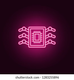 Bioengineering nanorobotics icon. Elements of artificial in neon style icons. Simple icon for websites, web design, mobile app, info graphics