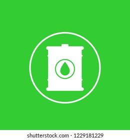Biofuel barrel icon in circle
