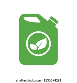 Biofuel canister vector icon illustration isolated on white background