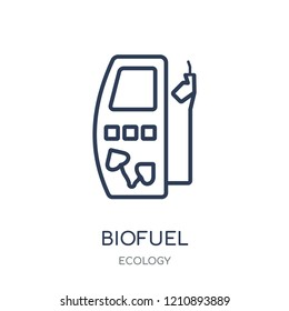 Biofuel icon. Biofuel linear symbol design from Ecology collection. Simple outline element vector illustration on white background.