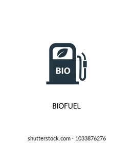 Biofuel icon. Simple element illustration. Biofuel symbol design from Alternative energy collection. Can be used for web and mobile.