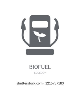 Biofuel icon. Trendy Biofuel logo concept on white background from Ecology collection. Suitable for use on web apps, mobile apps and print media.