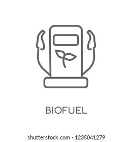 Biofuel linear icon. Modern outline Biofuel logo concept on white background from Ecology collection. Suitable for use on web apps, mobile apps and print media.