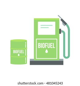 Biofuel vector icon. Alternative and environmental friendly biofuel.