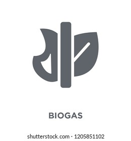Biogas icon. Biogas design concept from Ecology collection. Simple element vector illustration on white background.