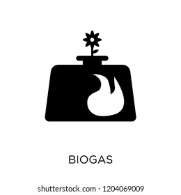 Biogas icon. Biogas symbol design from Ecology collection. Simple element vector illustration on white background.