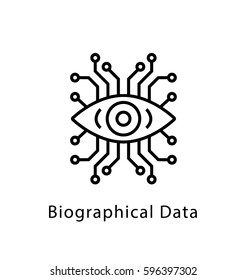 Biographical Data Vector Line Icon