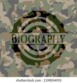 Biography camouflage emblem