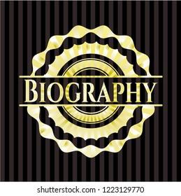 Biography gold shiny badge