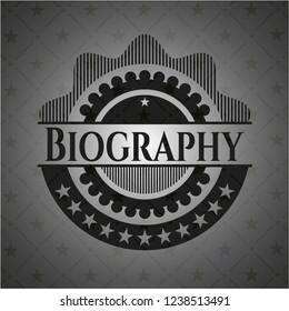 Biography realistic black emblem
