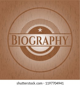 Biography wooden signboards