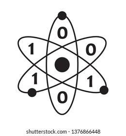 biohacking concept with atom icon. vector design illustration