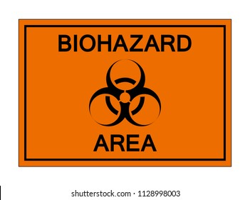 Biohazard Area Symbol Sign,Vector Illustration, Isolate On White Background Icon. EPS10