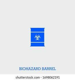 biohazard barrel icon. biohazard barrel vector on gray background