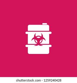 biohazard barrel icon vector. biohazard barrel sign on pink background. biohazard barrel icon for web and app