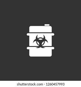 biohazard barrel icon vector. biohazard barrel sign on black background. biohazard barrel icon for web and app