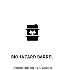 biohazard barrel vector icon. biohazard barrel black sign on white background. biohazard barrel icon for web and app