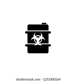 biohazard barrel vector icon. biohazard barrel sign on white background. biohazard barrel icon for web and app