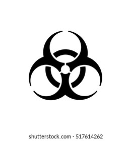 The biohazard icon. Biohazard symbol.