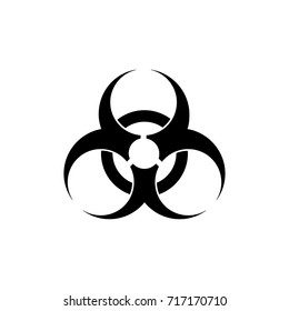 Biohazard icon. Biohazard symbol. isolated on white background. Vector illustration. Eps 10.