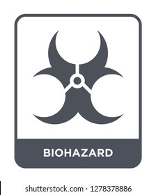 biohazard icon vector on white background, biohazard trendy filled icons from Chemistry collection, biohazard vector illustration