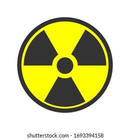 Biohazard icon. Warning sign of virus. Vector biohazard symbol isolated on white background. Emblem of biological threat alert. EPS 10
