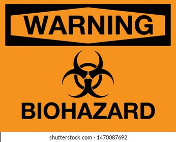 The biohazard icon. Warning Biohazard symbol. Vector illustration EPS10