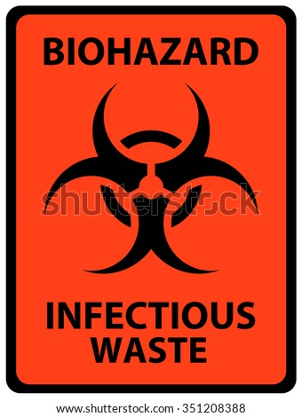 Biohazard Infectious Waste Safety Sign Alerts Stock Vector Royalty