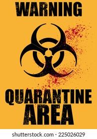 biohazard quarantine area background